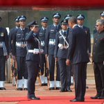 Wing Cmdr Pooja Thakur is the 1st woman officer to lead Guard of Honour for a major visiting dignitary #TheObamaVisit http://t.co/QrXEeKZvdQ