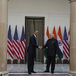 As President Obama arrives in India, White House tweets Jai Hind http://t.co/ki2hEo8kkO #NamastePOTUS http://t.co/ZK3b42EBMK