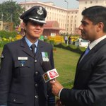 Proud moment to give Guard of Honour to US President @BarackObama: Wg Cdr Pooja Thakur tells me http://t.co/bLiQxG5R7a