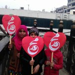 Cute kids showing love for Prophet PBUH #JIShaneMustafaMarch Lahore http://t.co/LToHOr6R9X