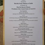 In case you are wondering what is being served, here is the menu from Hyderabad House #NamasteObama http://t.co/tOYM5YygwE