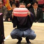 <千秋楽の様子>#sumo 日仏友好杯。ピンクのビッグマカロン。#sumo 大相撲3月場所(大阪)の先行予約は、明日の11時まで! http://t.co/Xikzw8fCNH http://t.co/cGo80Wu5aJ