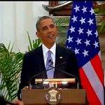 Mera pyaar bhara namaskar. Honoured to be here: President Barack #ObamaInIndia http://t.co/mPBp6VGDpZ