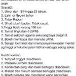 Kepada mereka yang berminat untuk menyertai pasukan Johor Military Force (JMF), sila ambil perhatian. @Twt_Larkin http://t.co/TyuH42P8fx