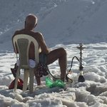 The coolest person today: snow, shisha, and naked! #Lebanon http://t.co/435A2vzCSd