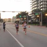 Runners cross the Venetian Causeway in Miami Beach Sunday morning during the Miami Marathon. #MiamiMarathon2015 http://t.co/VRGSxUkQQ3