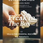 VOLA & THE ORIENTAL MACHINE×Koji Nakamura、新宿MARZでツーマン http://t.co/TVTHLciWR9 http://t.co/0HNumEfA48