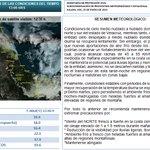 Actualización. Esta tarde-noche posible llovizna-niebla, ambiente frío y heladas al amanecer. Mañana #Norte costa C-S http://t.co/kHcz6qvsPP