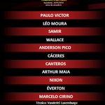 Mengão escalado para a partida contra o São Paulo! #FlaSuperSeries http://t.co/lFPaD8qQHJ