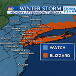#BLIZZARD Watch now expanded to include #NYC for 1-2 FT of snow and dangerous white out conditions. Monday night-Tue http://t.co/vmMlQQsKOL
