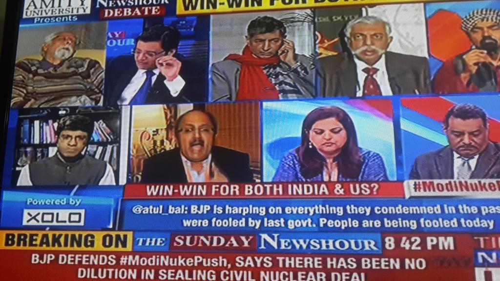 "hahahahaha ROFL!  RT ""@manaman_chhina: Top left panelist on @TimesNow debate goes off to sleep. Deep sleep. http://t.co/8PobmQ6viV"""