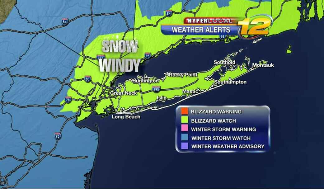 #BLIZZARD2015 1-2 feet of snow. Start time before noon. Travel not recommended after 6pm monday to noon tuesday. http://t.co/10rOjHKSZV