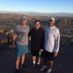 Tremendous morning on a tremendous hike to top of Camelback Mountain with @wingoz and Coach Herm. http://t.co/FLkF2Zo8dj