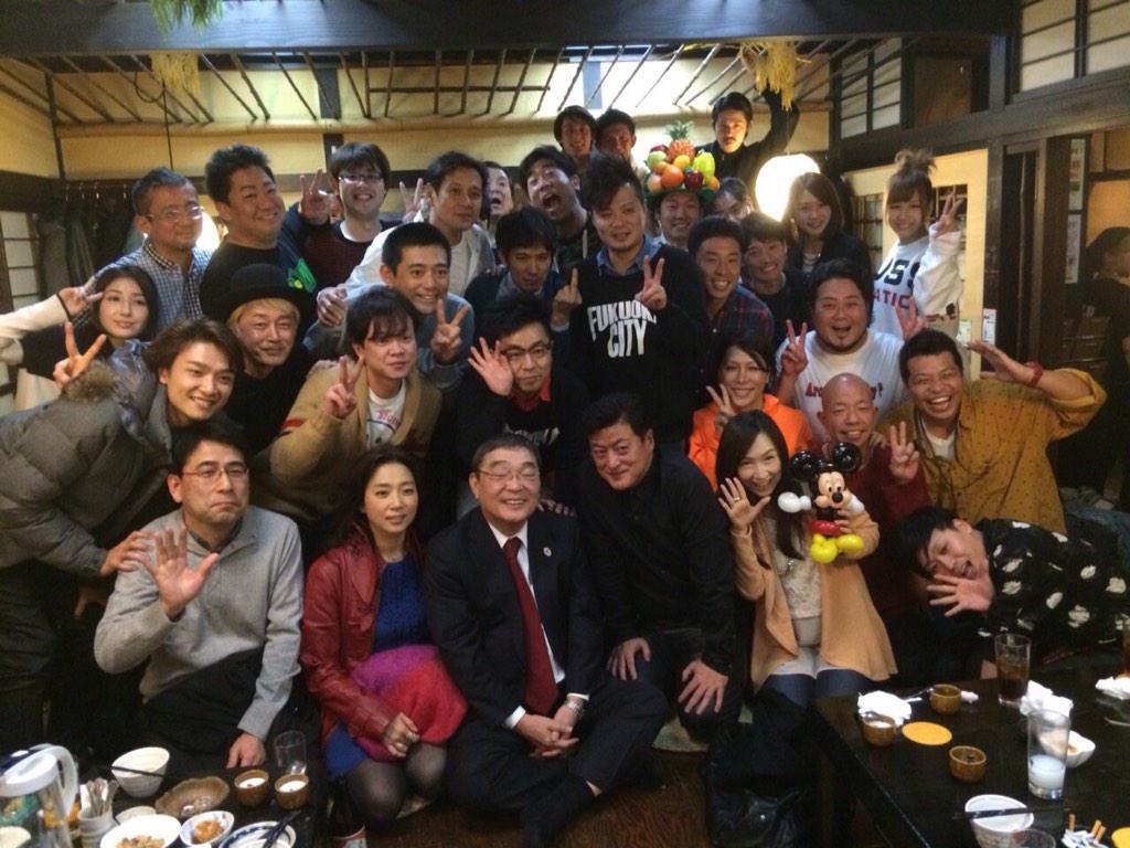 福岡県人会、今日も最高に盛り上がったばい!*\(^o^)/* 〆はもちろん博多手一本たい!! http://t.co/B5lX14v1mX