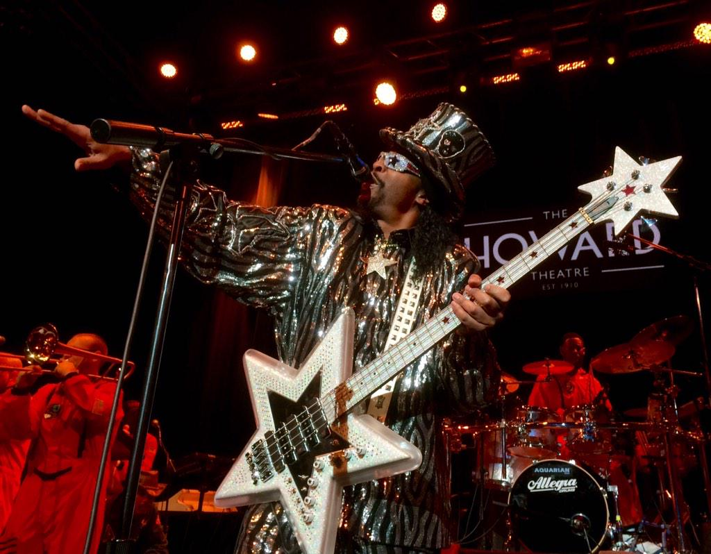 Glory be to the one who knows what the #funk's about! @Bootsy_Collins from Friday's show at #DC's @HowardTheatre http://t.co/9dSh7kX8Tp