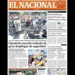 Aun nos queda El Nacional @ElNacionalWeb y esta es su primera página de hoy: OPOSICIÓN MARCHÓ RODEADA ... http://t.co/nx18moBUe7