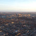 Sunrise from the @NewsTalk770 Traffic Helicopter. Have a good day! #yyc #yyctraffic http://t.co/JQDYsmTkHO