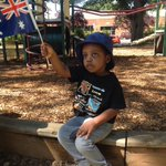 Three-year-old Valentine Sedze will watch his dad become an Australian citizen. #Castlemaine #AustraliaDay @BgoAddy http://t.co/lh8WDz5tRY