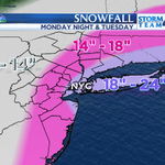 Heres what the snowfall totals look like as of 2 PM. As the latest models come out these numbers may get adjusted. http://t.co/eAurAqe7mA