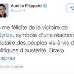 Assez surprenant de voir certaines réactions danciens ministres de #Hollande à la victoire de #Syriza !!!!! http://t.co/29dyvz45lQ