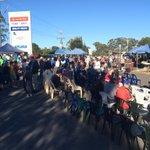 nice crowd gathering in #Strathfieldsaye ahead of the #AustraliaDay ceremony at 8.45am. @bgoaddy http://t.co/nCwmBZU2pL