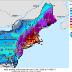 """Latest snowfall forecast for major #NorEaster. Up to 18-24"""" possible: http://t.co/2KFs1GUJxx 