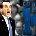 HISTORY! Mike Krzyzezwski becomes 1st coach in NCAA men's history to win 1,000 games. Duke beats St. Johns, 77-68. http://t.co/OwqpHrSFyK