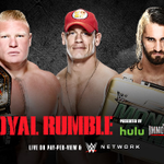 At #RoyalRumble TONIGHT, @BrockLesnar defends the @WWE Title vs. @JohnCena and @WWERollins! http://t.co/eACyLknYrB http://t.co/lauvyuXZLU