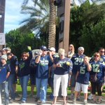 In Tempe --> RT @JasonLaCanfora: Seahawks fans mobbing the area around the team hotel waiting for busses to arrive. http://t.co/wNe68s1nQN
