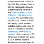 Weather Alert: To all My New Yorkers. Please Read #weather #snowstorm #blizzard http://t.co/2BOlDjI6ao