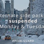 Need to find parking tonight? Remember, alt sides are suspended tomorrow and Tuesday #pixblizzard #nyc http://t.co/tu2lCYl4Oz