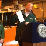 """.@BilldeBlasio not mincing words: says storm could be worst in NYC history...surpass 28.9"""" from 2006 #Blizzard2015 http://t.co/808IzHkZgZ"""