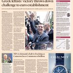 Heres a sneak peek at the front page of the UK Financial Times - Mon, January 26: http://t.co/7Gr9qlfGMI