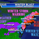Blizzard conditions forecast in northeast US, including NYC and Boston, as noreaster looms: http://t.co/qvHLkT86yJ http://t.co/VNcB2e5NKp