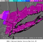 Latest snowfall expected via @NWSNewYorkNY. Blizzard Warning for greater NYC Metro area now through Tuesday night. http://t.co/2KBtltV0G9