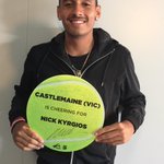 Castlemaine (Vic) tennis fans are waking up to good news today #aoblitz #gonick #ausopen http://t.co/C5AUSdzH32