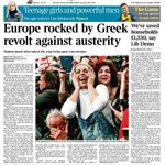 Tomorrows front page: Europe rocked by Greek revolt against austerity http://t.co/buIErbNdLT