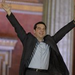 #Syriza leader Alexis Tsipras & supporters celebrate victory in Greece's general election http://t.co/gW6sAQSh3C