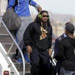 .@MoneyLynch + @RSherman_25 arriving in Arizona. #SB49 http://t.co/zgsLEg0W5n