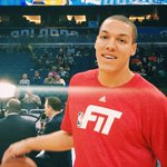 New hairstyle for @IamAaronGordon as he makes his 1st @NBA start. #PureMagic http://t.co/sHY6syHeTP
