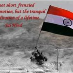 Patriotism is not short frenzied outburst of emotions, but the tranquil and steady dedication of a lifetime -Jai Hind http://t.co/bJxLDlCP9j
