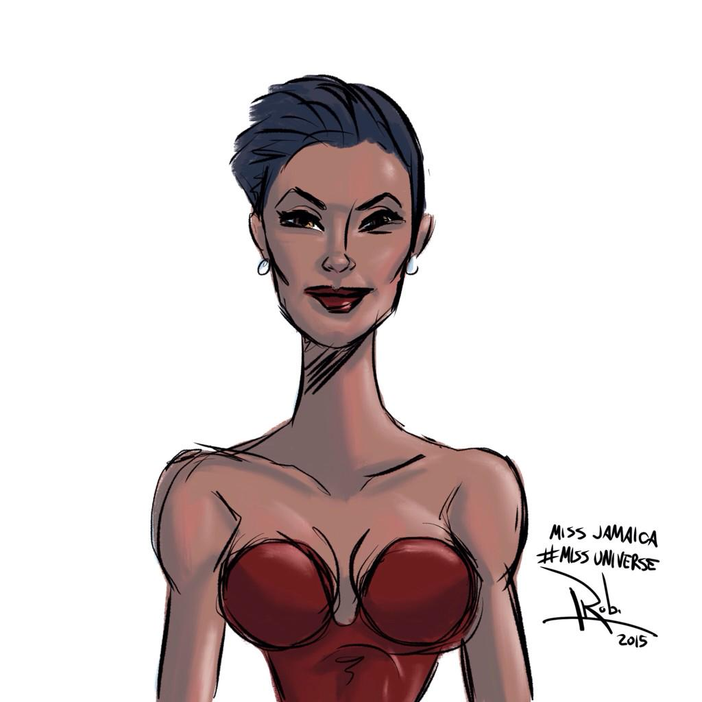 For whatever it's worth, @KaciFen, you were the most interesting #MissUniverse contestant to draw. #MissJamaica http://t.co/6xY29rGZq8