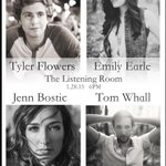 Wed night! Psyched 2 be playing @listeningroom w/ @emilyearle @TomWhallMusic @tylerflowers @madisonflowerz #nashville http://t.co/kf0kcSGpaG