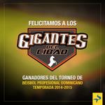 ¡Felicidades @GigantesSFM ! por haber conquistado su primera corona del Béisbol Profesional Dominicano. http://t.co/xPCMVgUNVs