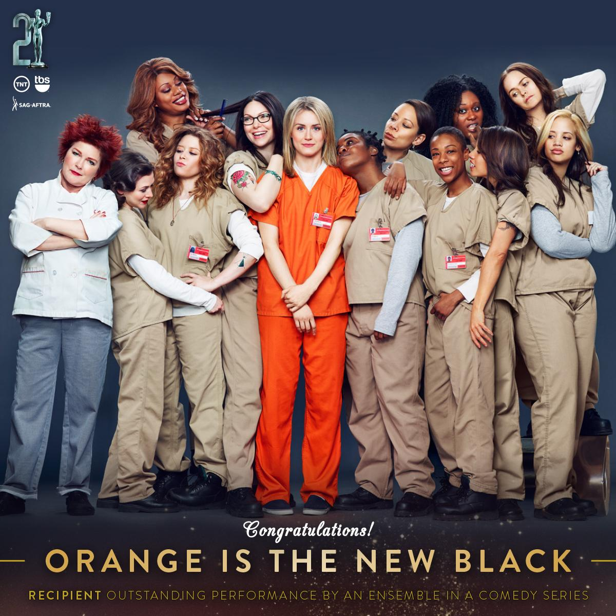 Congrats to @OITNB #SAGawards recipient for Outstanding Performance by an Ensemble in a Comedy Series! #OITNB http://t.co/gZDwuAFwAX