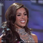 MJ Lastimosa all smiles when Philippines was called as part of Top 15. #MissUniverse http://t.co/xOmEwiCRJP