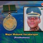 RT @TimesNow: Major Mukund Vardarajan, who died battling terrorists in J&K posthumously awarded Ashok Chakra #RDayWithObama http://t.co/Uic…