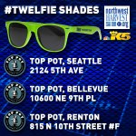 Our fan food drive for @NWHarvest kicks off this AM at 3 @Toppot locations. Donate & get #twelfie shades. 630-930am http://t.co/exXiM74PMa