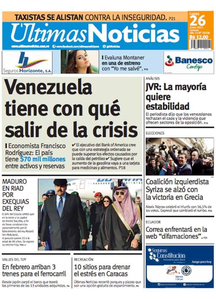 Titulares ltimas noticias venezuela tiene con qu salir Ultimas noticias de espectaculos internacionales
