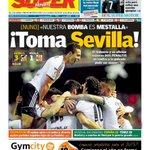 Portada @superdeporte_es Toma Sevilla. El @valenciacf se impone al Sevilla y al arbitro en un intenso partido AMUNT http://t.co/H24VwPzQXs